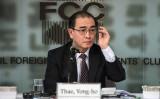 亡命したテ・ヨンホ元北朝鮮外交官は、米メディアCBSのインタビュー番組に出演し、北朝鮮のICBMと核開発の脅威について強調した。1月、韓国の外国人記者クラブで会見(ED JONES/AFP/Getty Images)