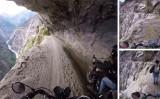 世界で最も危険な場所のひとつ。インド北部の道路(スクリーンショット)