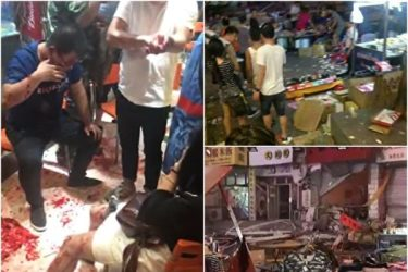 中国でまたも爆発が発生 遼寧省の夜市で40人以上死傷か(ネットで出回る事故現場とみられる写真)