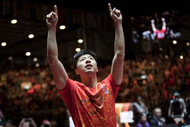 写真は世界ランキング1位の馬龍(マーロン)選手。中国のスター選手3人は23日、中国卓球代表の劉国梁・総監督の解任への抗議とみられる理由で、同国の成都で行われた国際大会をボイコットした。(GettyImages)