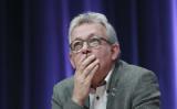 共産党大会に出席するピエール・ローレン総書記(JACQUES DEMARTHON/AFP/Getty Images)