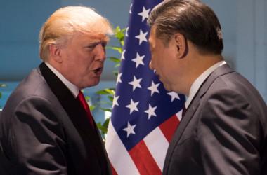 7月8日、ドイツ・ハンブルグでG20開催期間中、ドナルド・トランプ米大統領と習近平中国国家主席は2国間会談を行った(SAUL LOEB/AFP/Getty Images)