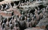 世界遺産となっている中国兵馬俑(China Photos/Getty Images)