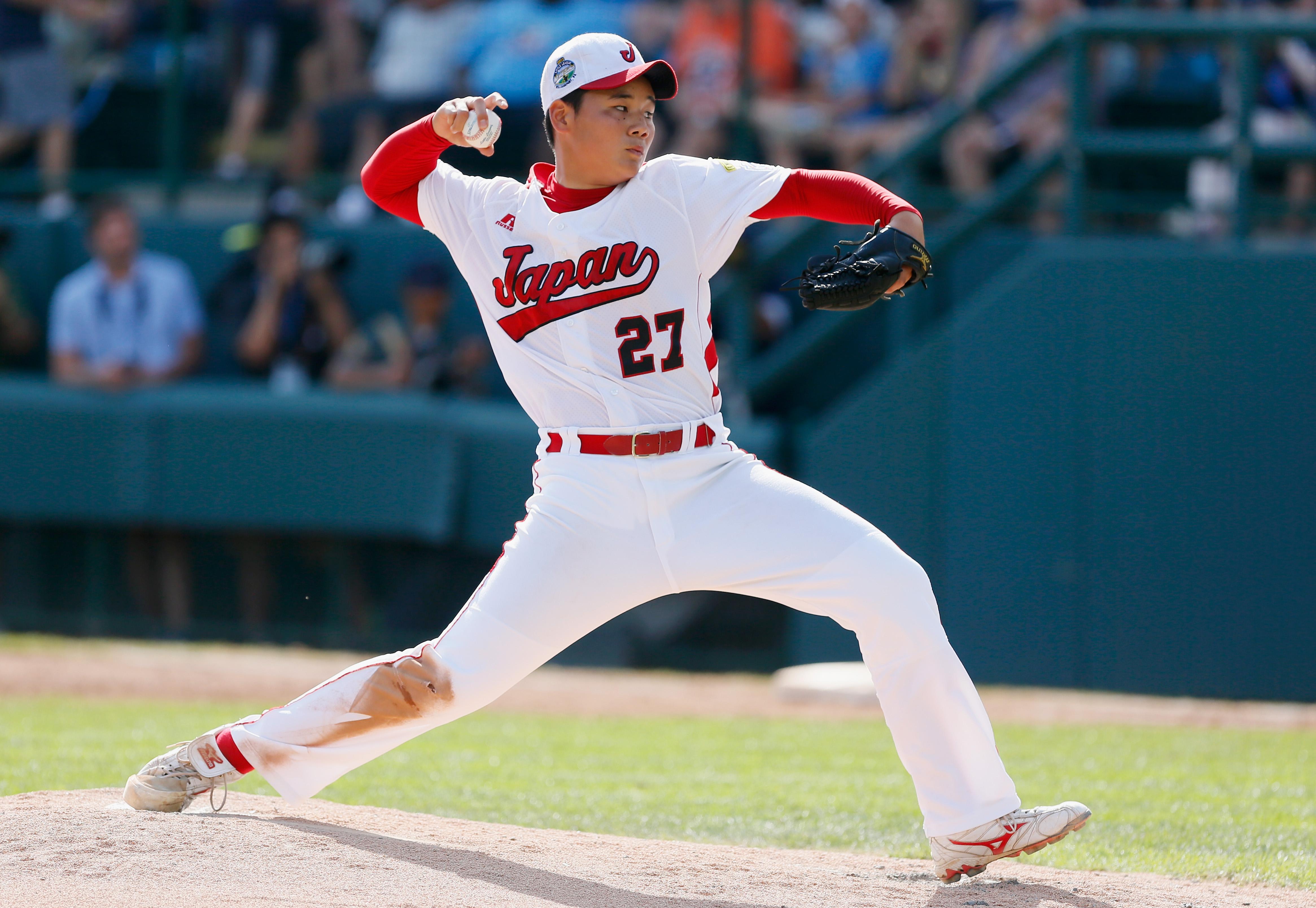 早実(西東京)清宮幸太郎内野手が28日、高校通算最多本塁打とされる107本に並んだ。(Rob Carr/Getty Image)