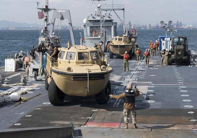 2017年4月に行われた米韓合同軍事演習の写真。(U.S. Navy photo by Mass Communication Specialist 2nd Class Joshua Fulton/Released)