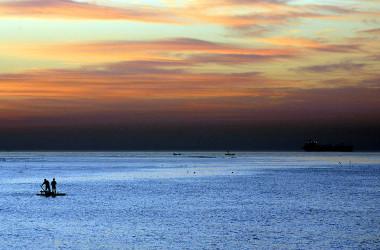 河北省の秦皇島市にある著名な高級避暑地・北戴河(China Photos/Getty Images)