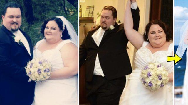 結婚式の頃。二人の体重はピークに達していた(NTD Inspired)