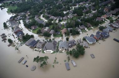 ハリケーン・ハービーはテキサス州ヒューストンに甚大な被害をもたらした(Win McNamee/Getty Images)