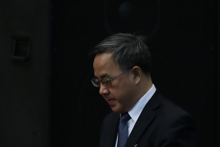 会議に出席する胡春華氏(Feng Li/Getty Images)