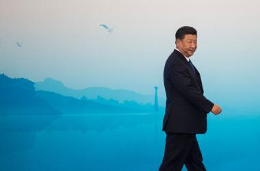 9月4日、中国の廈門市で開かれたBRICsサミットに出席した習近平・中国国家主席(FRED DUFOUR/AFP/Getty Images)