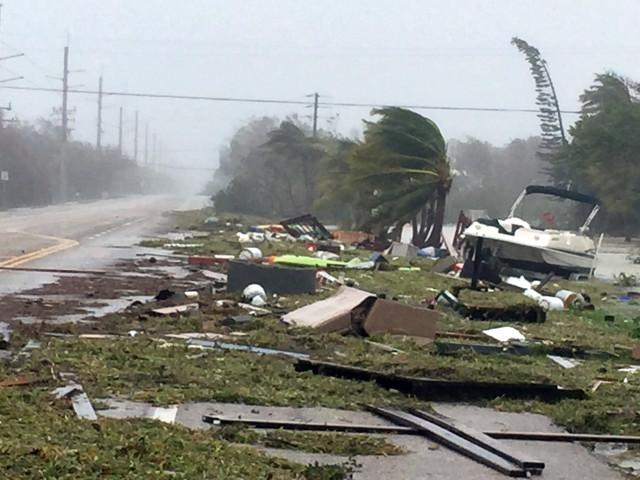 米フロリダ州で猛威を振るうハリケーン「イルマ」(Marc Serota/Getty Images)