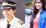 エア・インディアでパイロットを務めるアニー・ディヴィアさん(Anny Divya/大紀元合成)