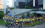 雨傘運動3周年に合わせて、香港市民は集会を開催した。(大紀元)