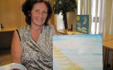 法輪功の修煉を指導する書『轉法輪』を読み始めて4か月、30年来の病苦から抜け出したベルギーの女性アンさんと彼女の美術作品