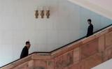 10月19日、共産党大会の会期中、人民大会堂の内部(FRED DUFOUR/AFP/Getty Images)