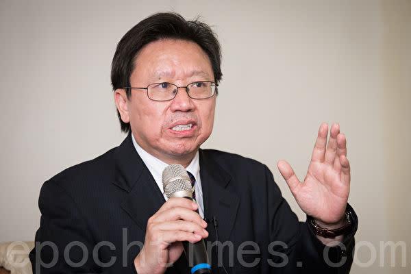 在米中国政治評論家の陳破空氏(陳柏洲/大紀元)