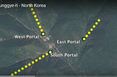 北朝鮮当局が頻繁に核実験を行っているため、同国豊渓里核実験場がある万塔山が崩壊する可能性が高まった。(スクリーンショット)