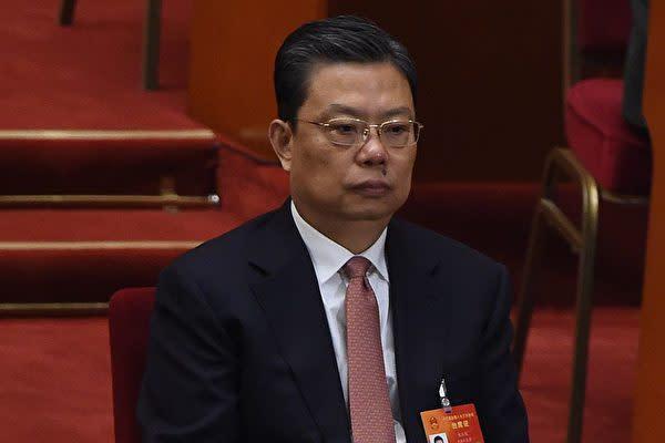 第19回党大会に列席する趙楽際氏。(WANG ZHAO/AFP/Getty Images)