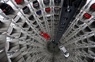 ドイツ大手自動車メーカー、フォルクスワーゲンの中国現地法人。(Sean Gallup/Getty Images)