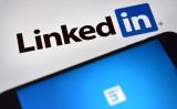 ソーシャルサイトLinkedInのロゴ。このたびドイツ諜報当局(BfV)は、中国スパイ機関がソーシャルサイトを使い、ドイツ政界、財界の人物の情報を収集していると警告した(Carl Court/Getty Images)