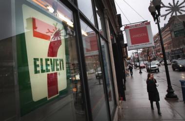 米シカゴにあるセブンイレブン。写真は2018年1月10に撮影されたもの。(Scott Olson/Getty Images)