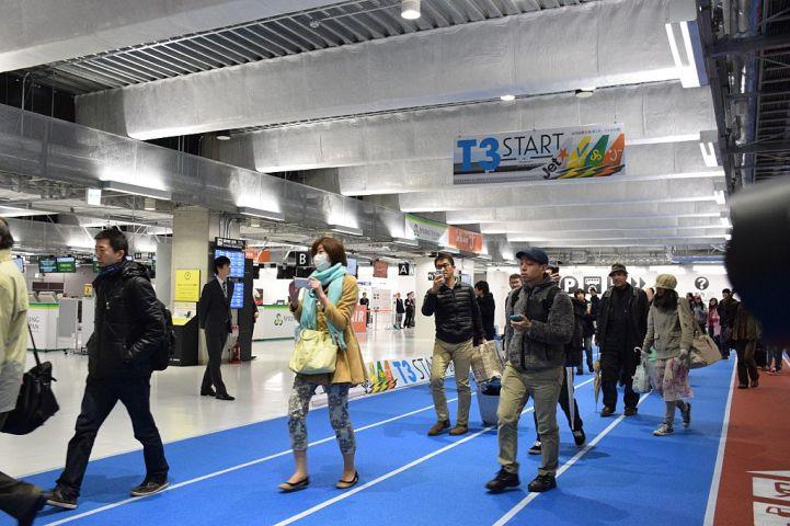 格安航空会社の発着を担う成田空港第3ターミナル。参考写真(JIJI PRESS/AFP/Getty Images)