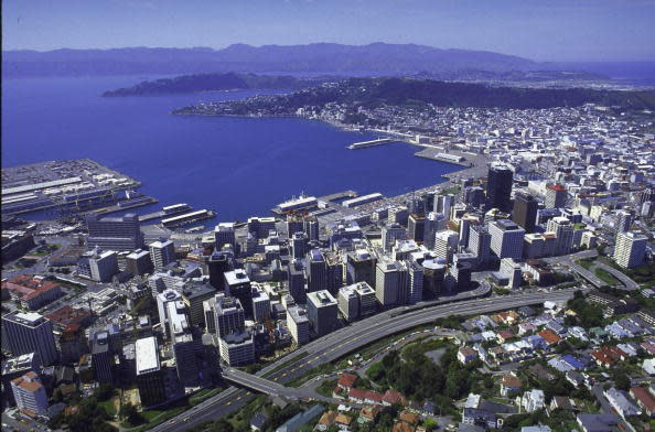 ニュージーランド首都ウェリントンの港の様子。(James Pozarik/The LIFE Images Collection/Getty Images)