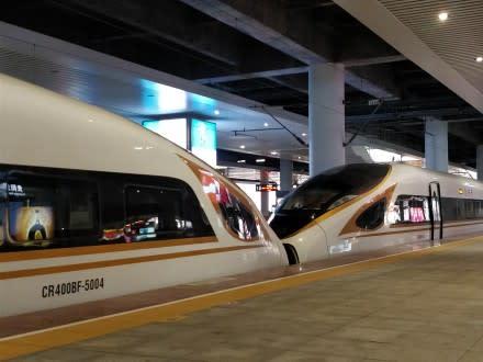 世界最高時速350キロで走行可能な復興号。(ネット写真)