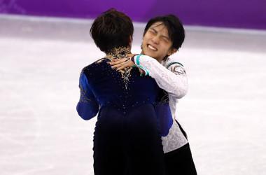 メダル獲得に歓喜する羽生、宇野選手、彼らの支えとなった音楽は?(Photo by Dean Mouhtaropoulos/Getty Images)