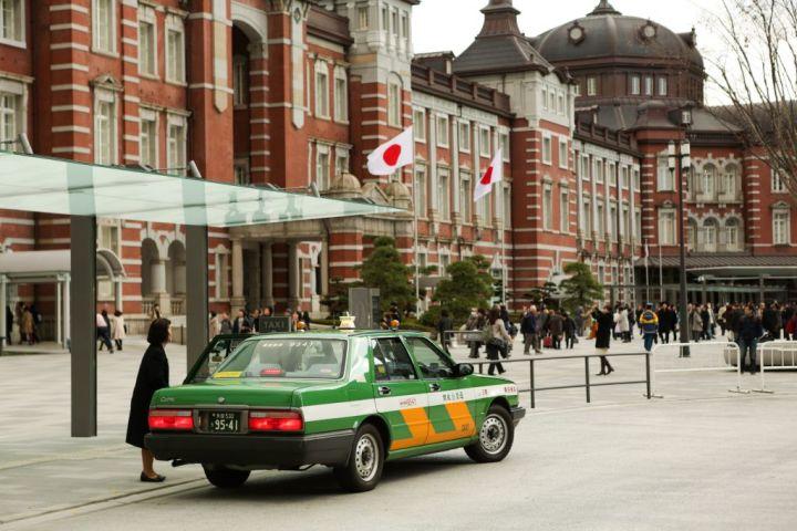 中国メディアは訪日中国人に正規のタクシーを利用するよう呼びかけた。(TARO KARIBE/AFP/Getty Images)