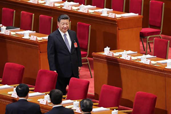 全人代に出席した習近平国家主席。(Lintao Zhang/Getty Images)