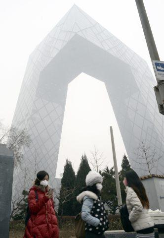 北京にある中国中央テレビ(CCTV)本局ビル(GOH CHAI HIN/AFP/Getty Images)