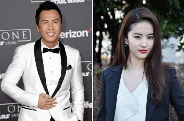 ディズニー実写版『ムーラン』に香港アクションスターのドニー・イェン氏と米中国系女優のリウ・イーフェイ氏の出演が決まった。(Getty Images/大紀元合成)