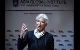 国際通貨基金(IMF)のクリスティーヌ・ラガルド専務理事(ISAAC LAWRENCE/AFP/Getty Images)