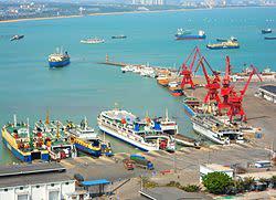 海南省海口市秀英港。(ウィキペディア)