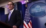 ムニューシン米財務長官。(Alex Wong/Getty Images)