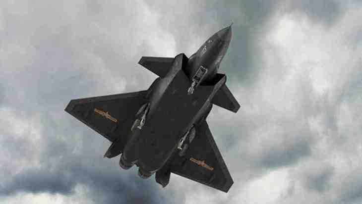 インド軍事情報サイトによると、中国軍の最新ステルス戦闘機「殲20(J-20)」(写真)は、チベット自治区空域を飛行訓練中、インドのレーダーに検出されていたという(RFI)
