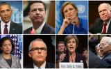 (上段左から)オバマ前米大統領、ジェームス・コミー前FBI長官、サマンサ・パワー前米国連大使、、 サリー・イェーツ前司法副長官、ダナ・ボーント前司法副長官(GettyImages)ジョン・ブレナン前CIA長官、(下段左から)スーザン・ライス元国家安全保障補佐官、アンドリュー・マッケベイ前FBI高官