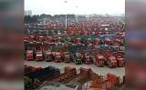 8日から全国各地でトラック運転手が待遇改善を求めてストライキを実施した(RFA)