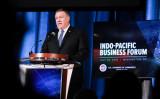 7月30日、米ワシントンで開かれたインド太平洋ビジネスフォーラムで、米政府の投資計画を発表したポンペオ長官(Samira Bouaou/The Epoch Times)