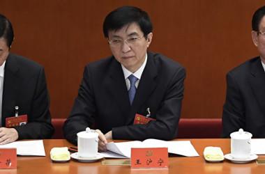 チャイナ・セブンの1人の王滬寧氏が約1カ月間、公の場に現れていない(WANG ZHAO/AFP/Getty Images)