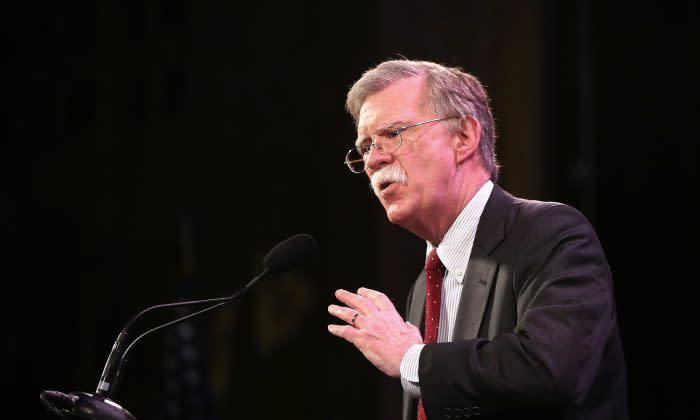 ジョン・ボルトン安全保障担当大統領補佐官(Scott Olson/Getty Images)