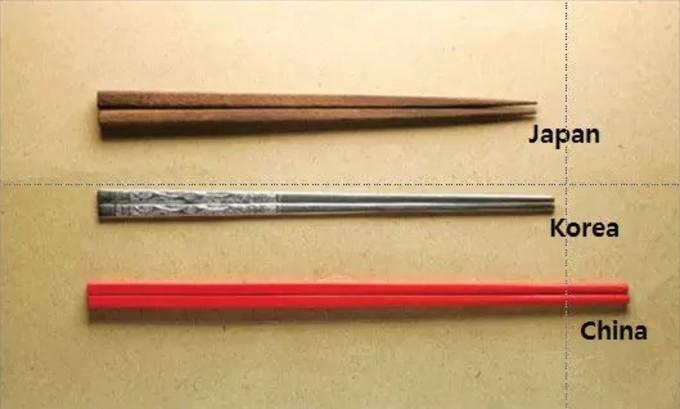日中韓の箸の違い