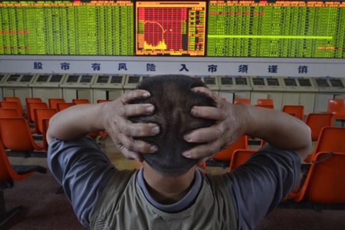 8月24日上海総合指数は再び8.49%急落した (Getty Images)
