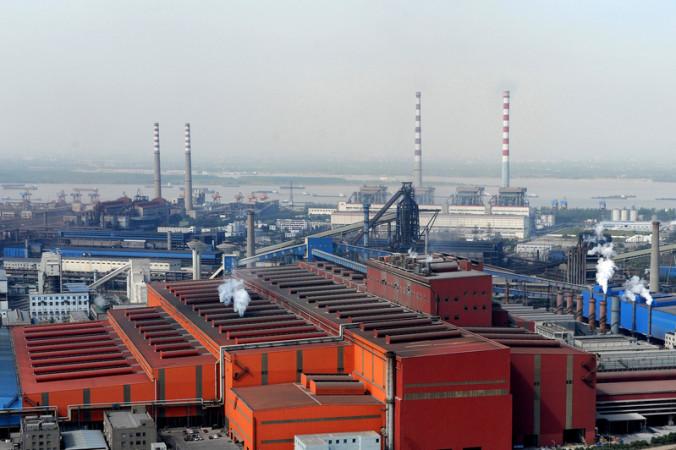 中国馬鞍山鋼鉄股份有限公司の様子(AFP/Getty Images)