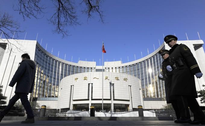 中国人民銀行(LIU JIN/AFP/Getty Images)