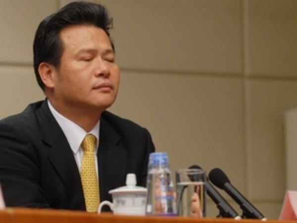 中国共産党中央紀律検査委員会の調査を受けている龚清概氏 (ネット写真)