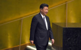 中国共産党の習近平総書記は1日、北朝鮮の李洙墉(リ・スヨン)朝鮮労働党副委員長と会談した(TIMOTHY A. CLARY / AFP)