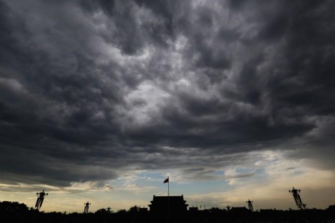 夕暮れ時の北京天安門広場。イメージ写真(Getty Images)