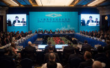 中国上海で9日、10日に開かれた、主要20カ国・地域(G20)貿易担当相会議で、中国の過剰生産に非難が集中した(JOHANNES EISELE/AFP/Getty Images)